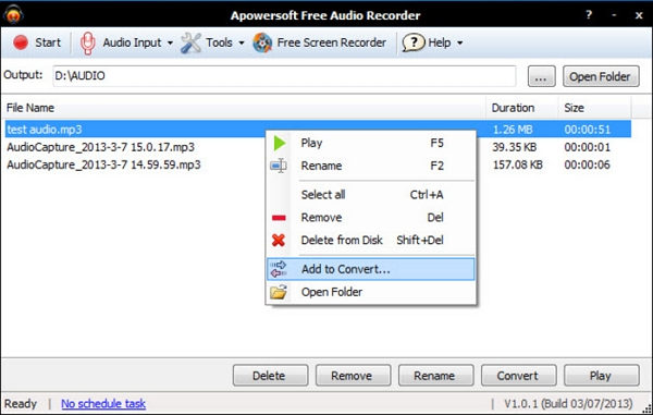 vimeo video songs - Apowersoft Free Audio Recorder