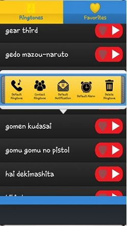 download anime ringtones on Android - Step 3