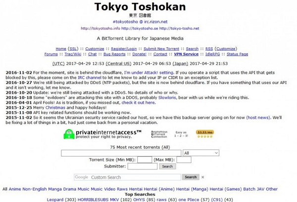 Anime Song Download Sites - TokyoTosho