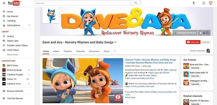 Download Animated Nursery Rhymes - Dave and Ava - Nursery Rhymes and Baby Songs