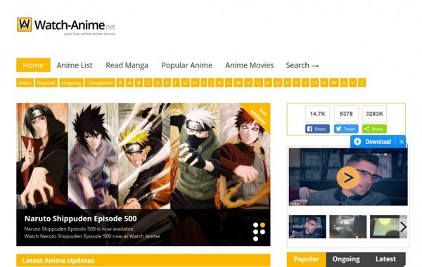 list of sites to download anime series
