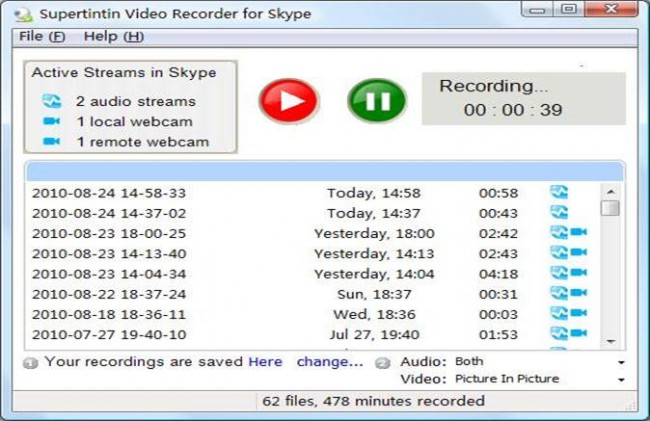 Top 5 Call Recorders for Chat Tools-Supertinin Webcam Recorder