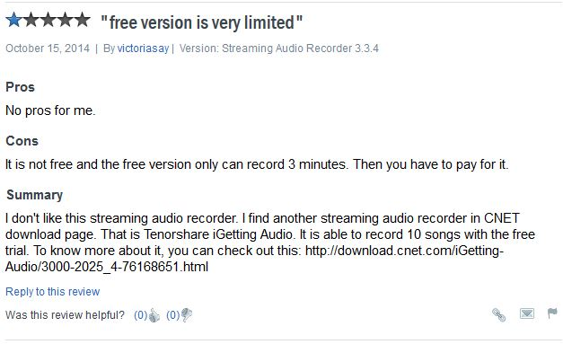 Streaming Audio Recorder-bad review