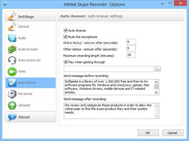 Top 10 Alternatives to All Call Recorder - AthTek Skype Recorder