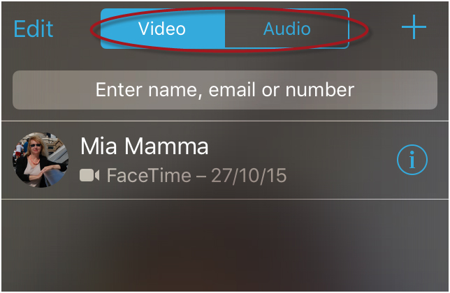 FaceTime from iPhone to Mac - FaceTime on iPhone step 3