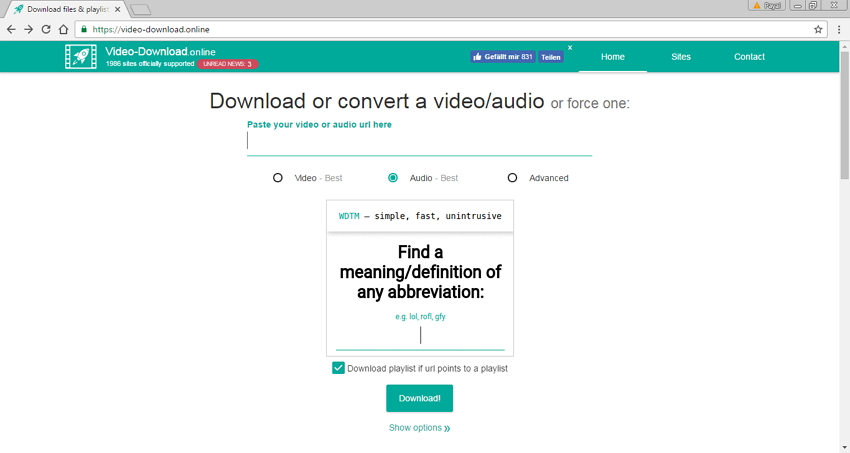 Online Site Like Savefrom.net - Video-Download.online