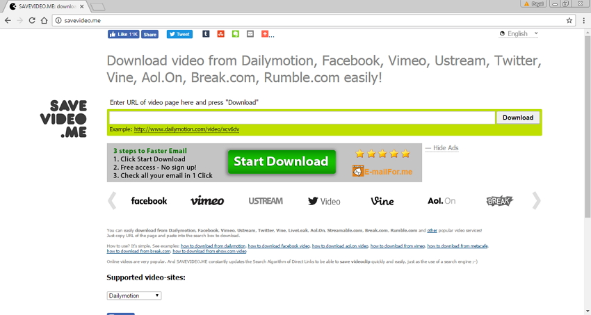 Online Site Like Savefrom.net - SAVEVIDEO.ME