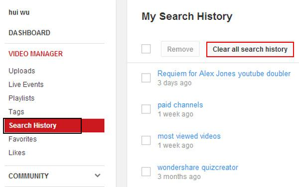 Tips for Youtube troubleshooting-clear youtube watch history