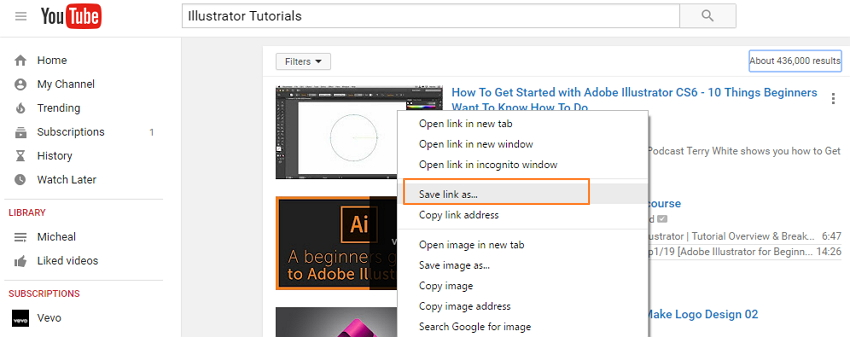 illustrator tutorials on youtube-copy link