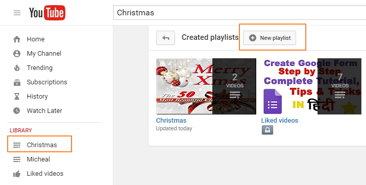 How to Make a YouTube Playlist for Christmas