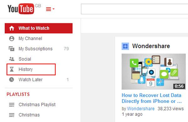Tips for Youtube troubleshooting-clear youtube history