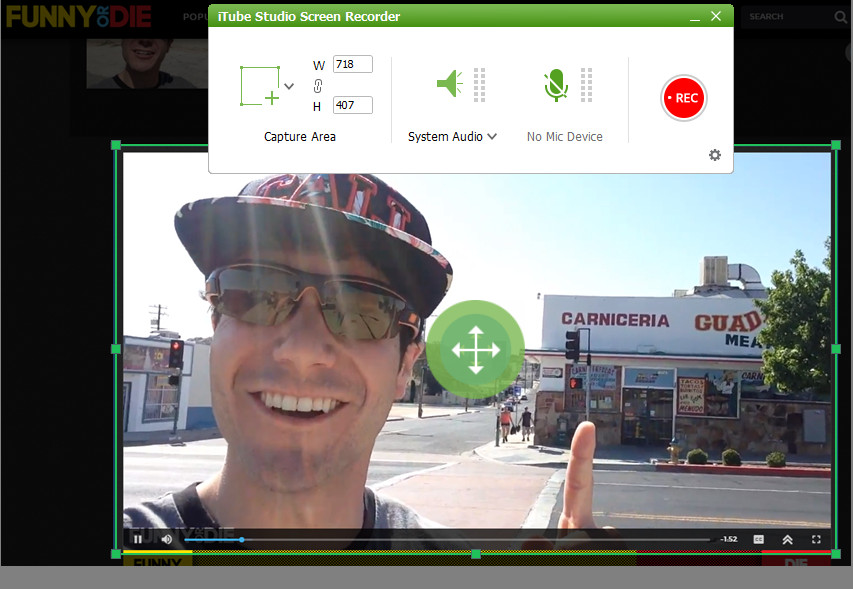 Download Funny or Die Video - Recording way step 2