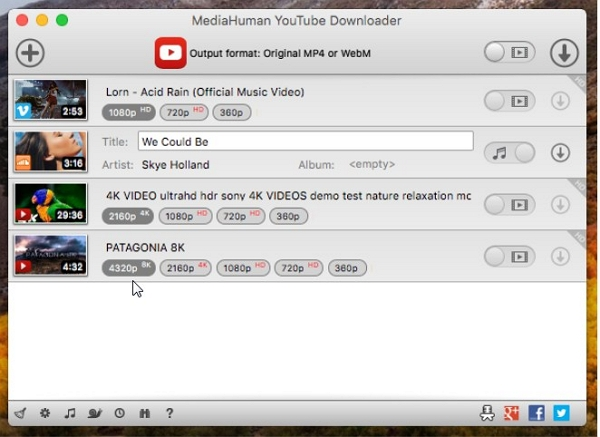 Another 8 Keepvid Alternative for Mac other than Keepvid Downloader  - MediaHuman YouTube Downloader