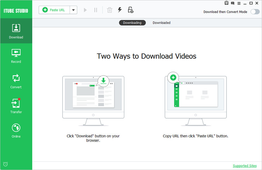 Download HTML 5 videos on mac or pc-click download button