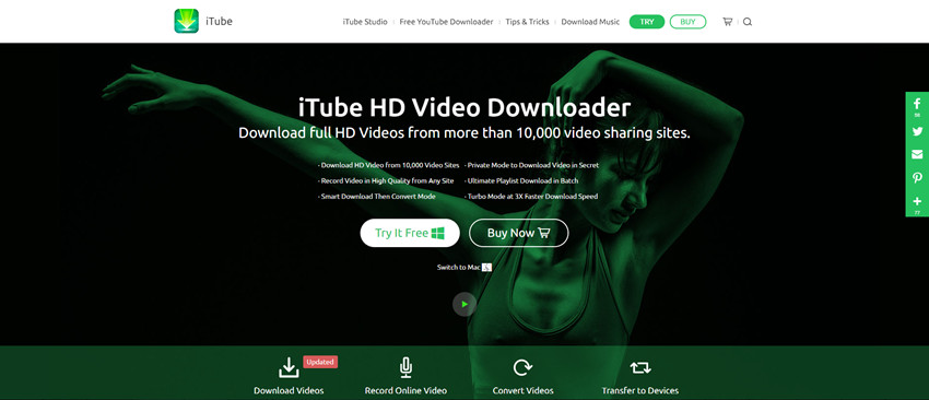 Download video from that video site-with iTube HD Video Downloader