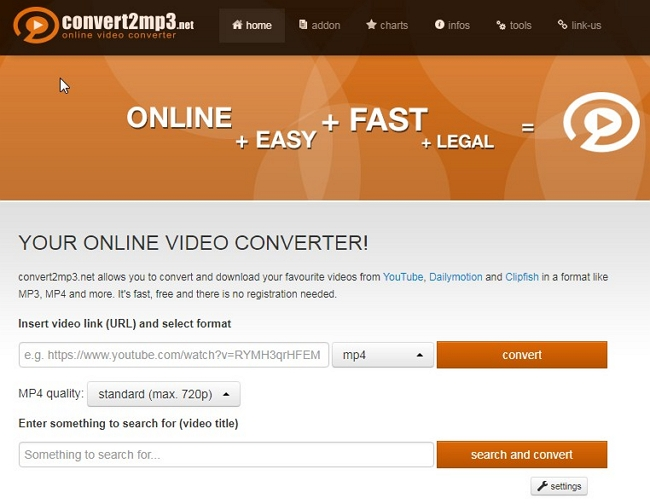 Recommended 6 Free Web Service to Download Web Videos from Any Site - Convert2mp3.net