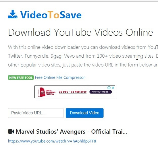Recommended 6 Free Web Service to Download Web Videos from Any Site - VideoToSave