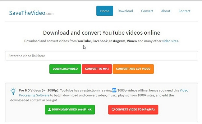 Recommended 6 Free Web Service to Download Web Videos from Any Site - SaveTheVideo.com