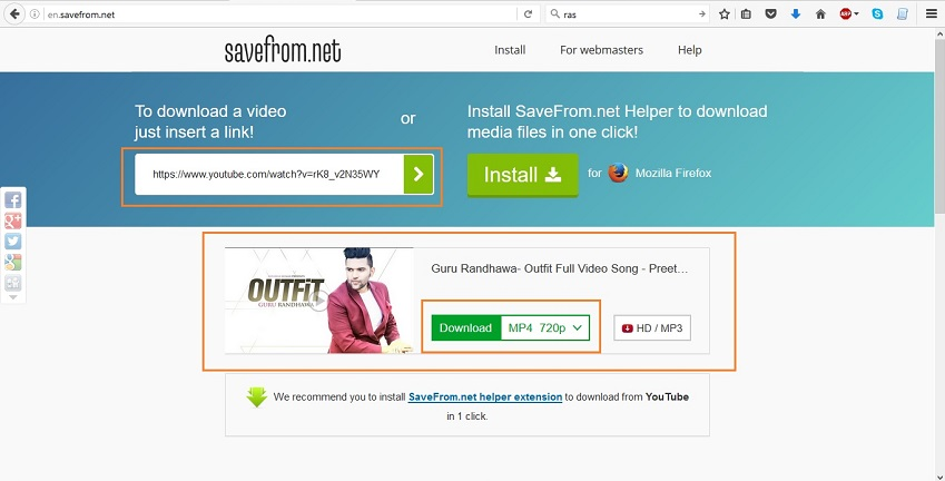Facebook Video Converters - Savefrom.net