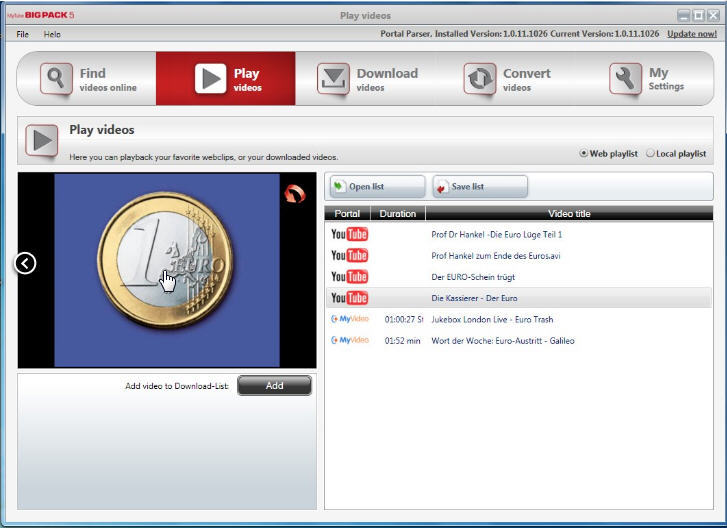 Video download capture alternatives-MyTube BigPack