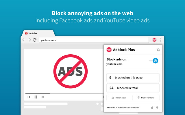 YouTube Ad Blocker Add-ons - Adblock Plus