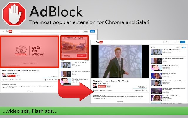YouTube Ad Blocker Add-ons - AdBlock