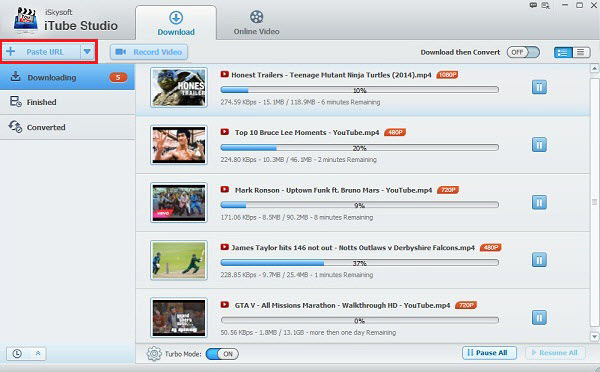 Helpful Alternatives to Flvto YouTube Downloader - iSkysoft iTube Studio for Mac