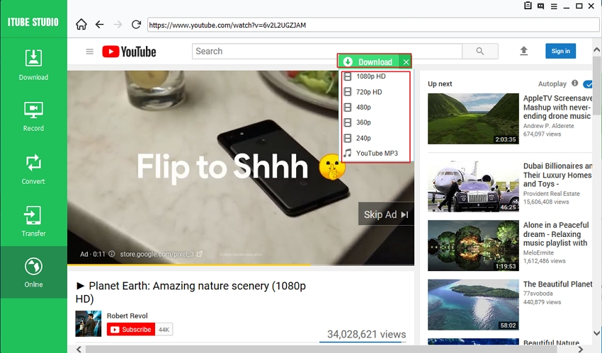 Download YouTube Videos with iTube Studio - Download YouTube Video
