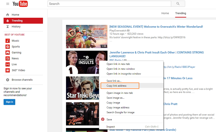 How to share embed YouTube Video-