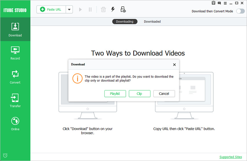 Steps to Download YouTube Links in Batch using iTube HD Video Downloader