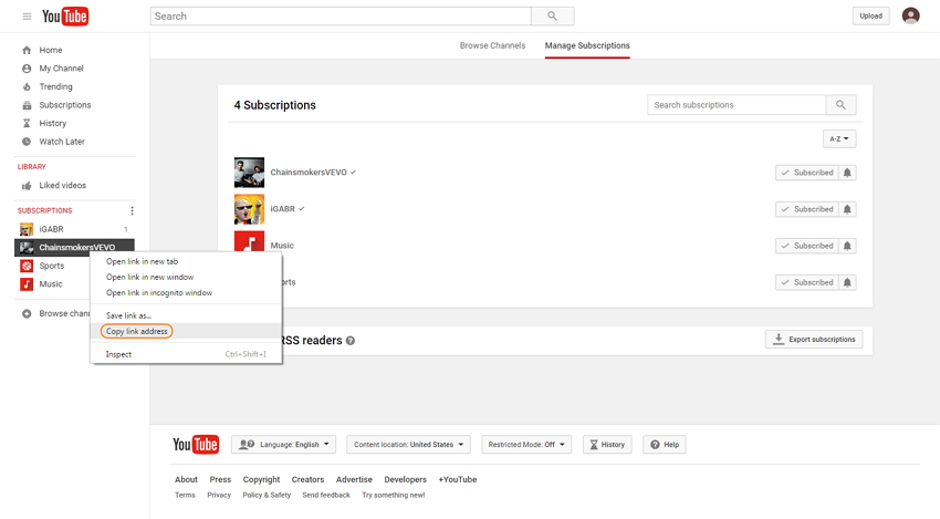 download YouTube My Subscriptions