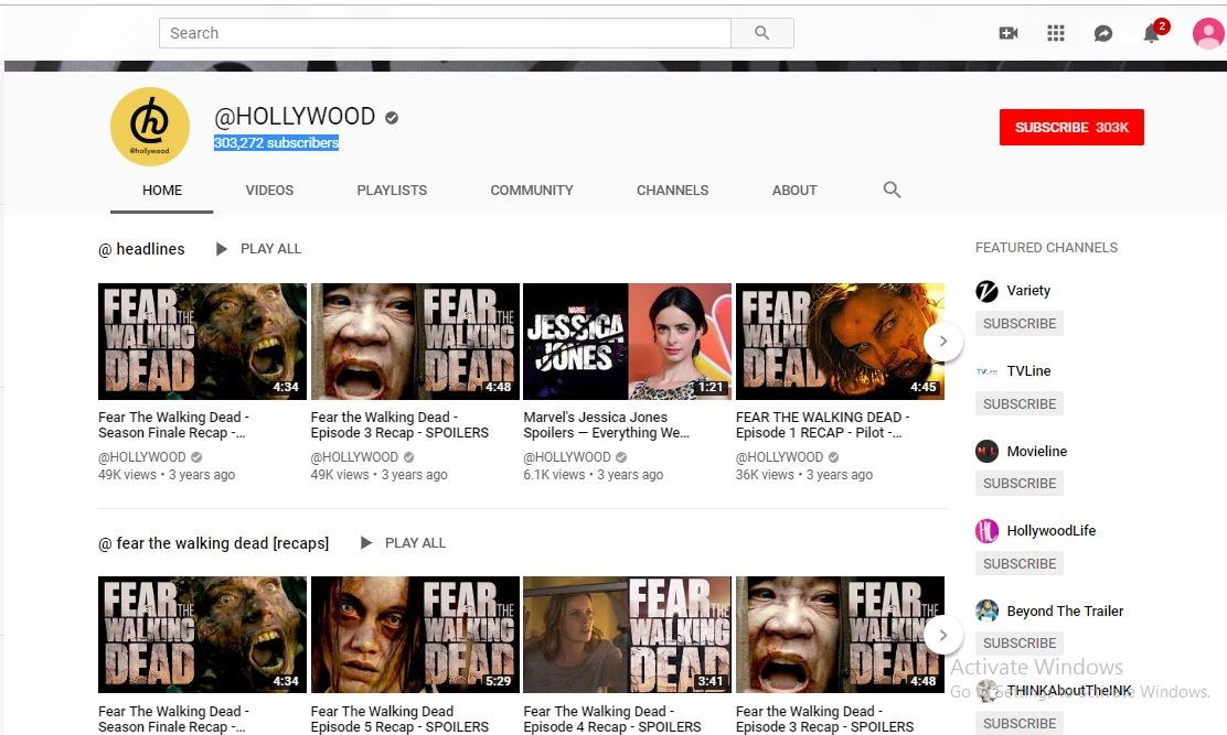 movie trailers on youtube