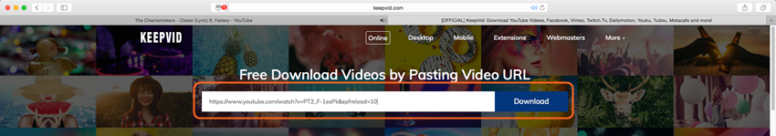 Download YouTube Videos for Mavericks - Paste URL