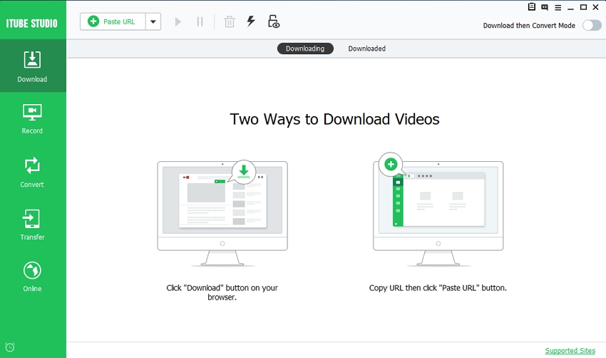YouTube Downloader for Windows 8 - Start iTube Studio
