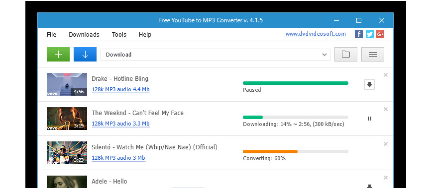 Top 5 Free YouTube to MP3 Downloader