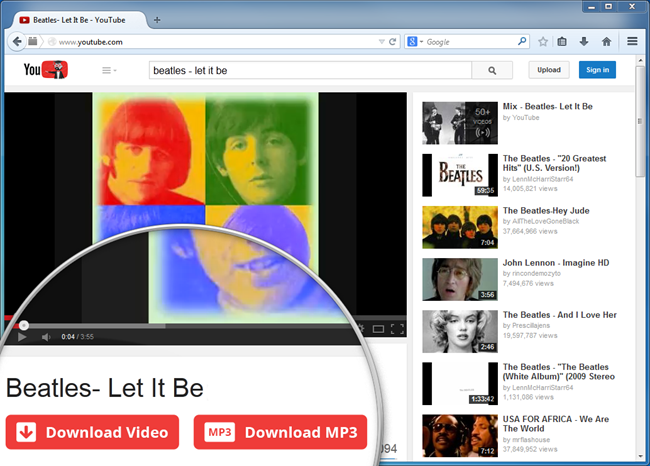 IE YouTube Downloaders - DVDVideoSoft YouTube Downloader Plugin