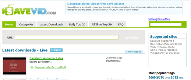 Top 10 Online YouTube Downloader 2016 - SaveVid