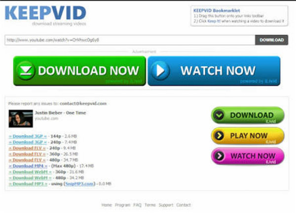 Download YouTube Videos to Computer - KeepVid.com