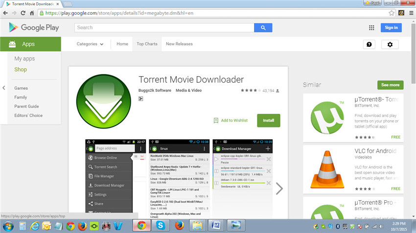 Top torrent movie downloader and alternative.