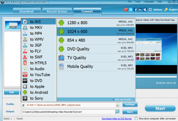 Facebook Video Converters - apowersoft-streaming-video-recorder