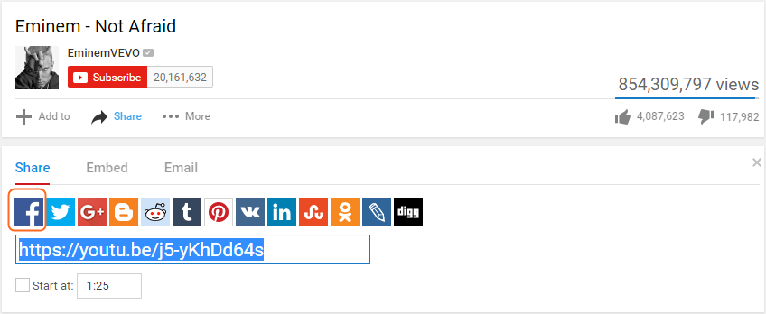 How to Share YouTube Video to Facebook Profile