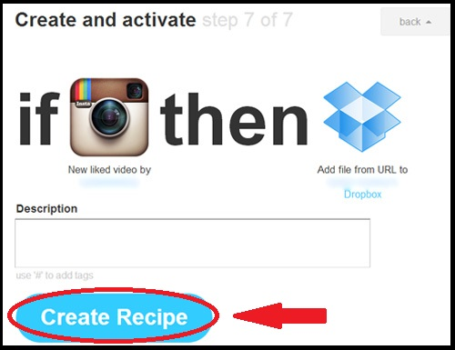 Save Instagram Videos - Creat Recipe