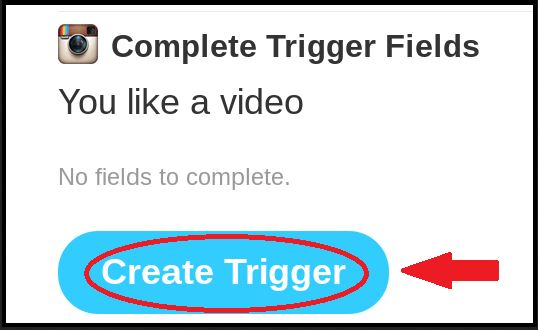 Save Instagram Videos - Create a Trigger