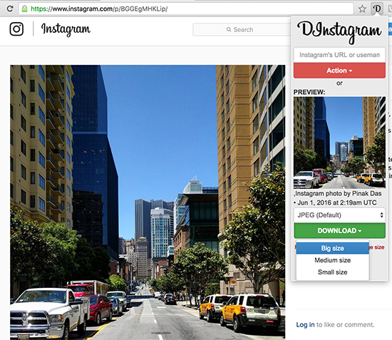 Download Instagram Video - Using Chrome Extension