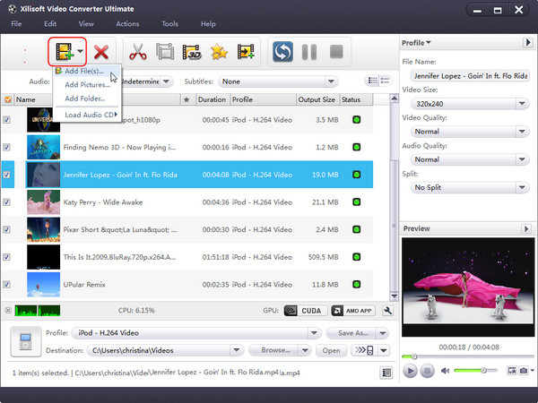 Convert Instagram Videos to MP3 - Xilisoft Video Converter Ultimate