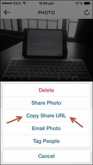 Copy Share URL on Instagram - Copy Share URL