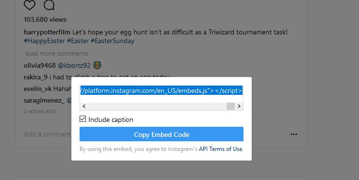 Embed Instagram - Embed Instagram Video Code