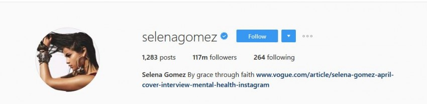 Most Followed Instagram Accounts - Selenagomez