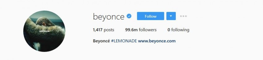 Most Followed Instagram Accounts - beyonce