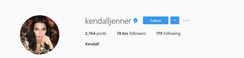 Most Followed Instagram Accounts - kendalljenner